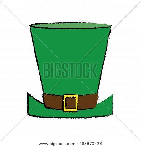 cartoon top hat saint patrick day symbol vector illustration eps 10