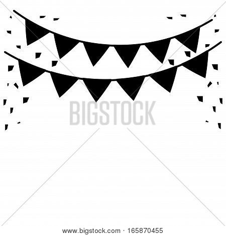 silhouette festive bunting confetti st patrick day vector illustration eps 10