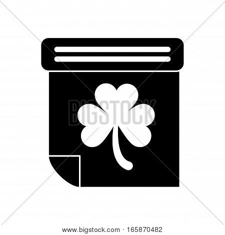 silhouette calendar clover st patrick day irish culture vector illustration eps 10
