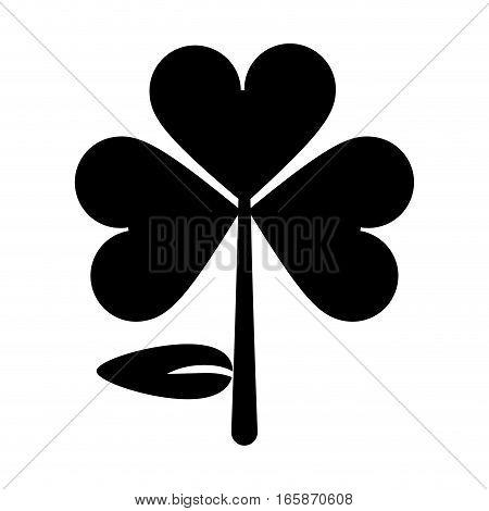 silhouette clover leafs saint patrick day ornament vector illustration eps 10