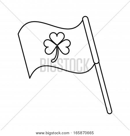clover flag ornate st patrick day outline vector illustration eps 10