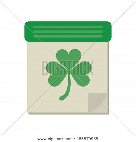 calendar clover st patrick day irish culture vector illustration eps 10