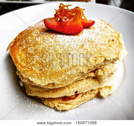 New York City brunch with Ricotta Cheese Pancake