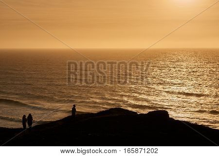 Bay area San Francisco sunset in the fall