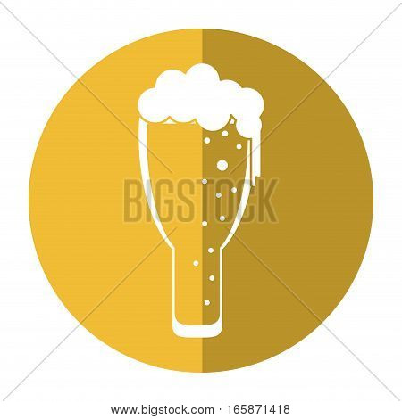 saint patrick day frosty glass beer celebration shadow vector illustration eps 10