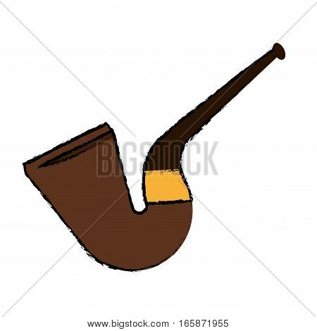 cartoon st patrick day tobacco pipe leprachaun icon vector illustration eps 10