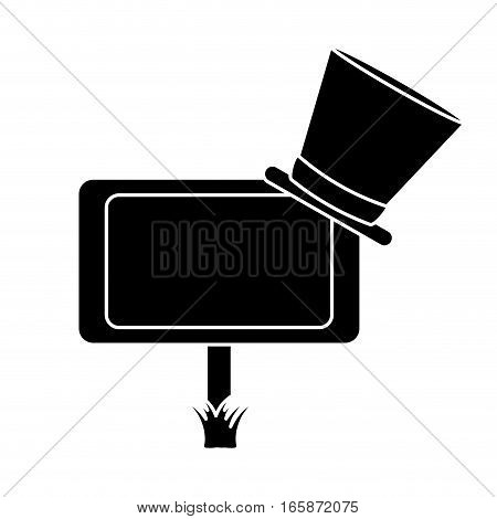 silhouette wooden sign st patrick day hat vector illustration eps 10
