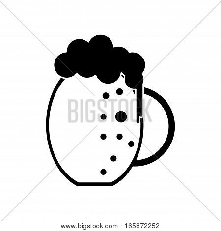 silhouette st patrick day jar beer cold vector illustration eps 10