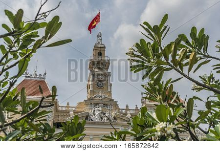 City houses in Ho Chi Minh City or Saigon in Vietnam