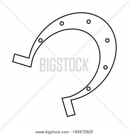 st patrick day horseshoe lucky symbol outline vector illustration eps 10