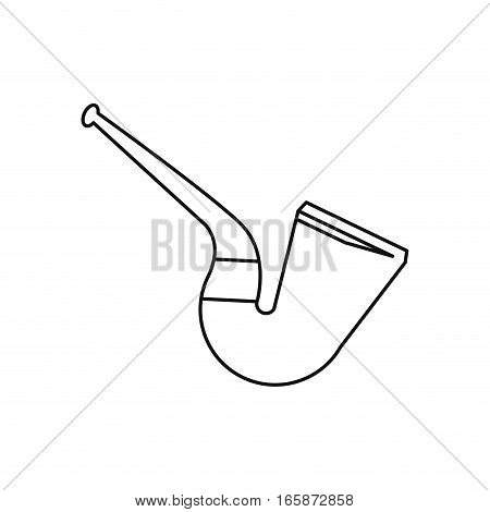 st patrick day tobacco pipe leprachaun outline vector illustration eps 10
