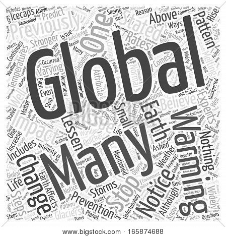 Global Warming Can It Be Stopped Word Cloud Concept