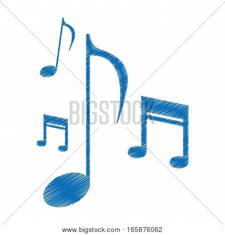 drawing music note sound melody symbol vector illustration eps 10
