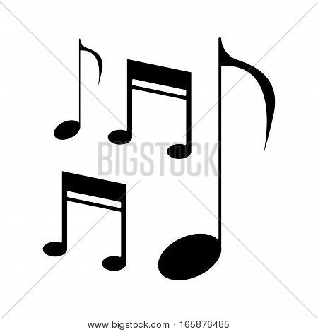 silhouette music note sound melody symbol vector illustration eps 10