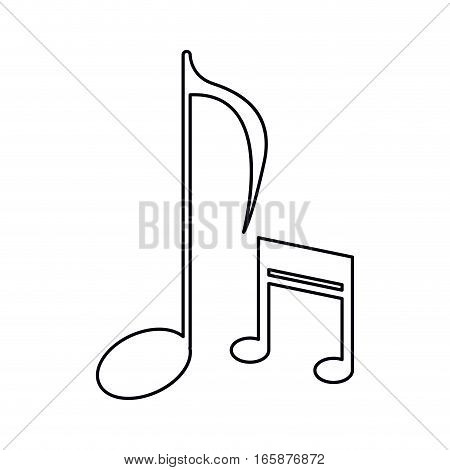 music note sound melody symbol outline vector illustration eps 10