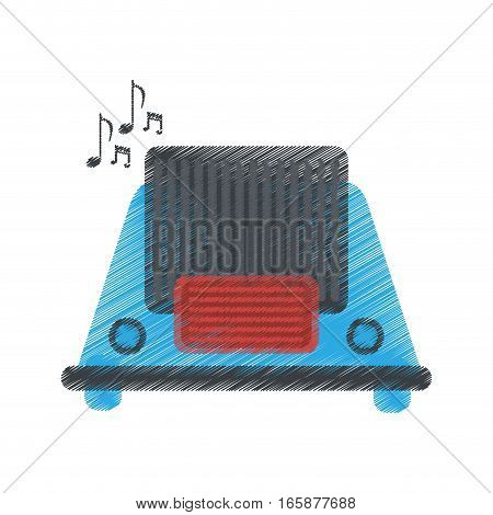 drawing radio music communication device vector illustration eps 10