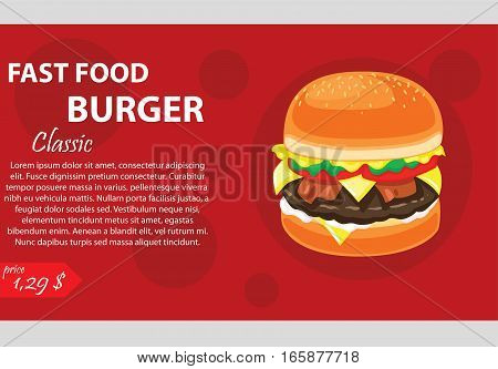fast food banner, This design is suitable for a banner or header website