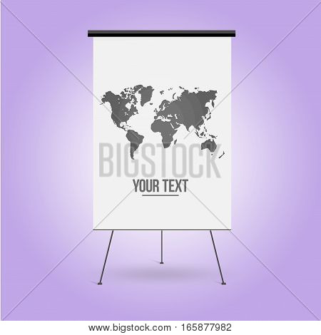 White Board for business presentation. Isolated vector illustration.