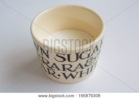 Classic Sugar Bowl with Lid Off Perspective View