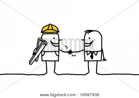 foreman & client handshake
