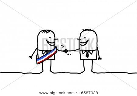 mayor & man handshake