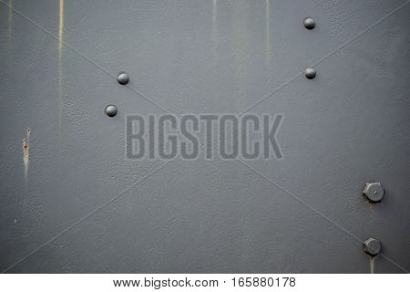 World War Two Tank Side Armour Texture Closeup