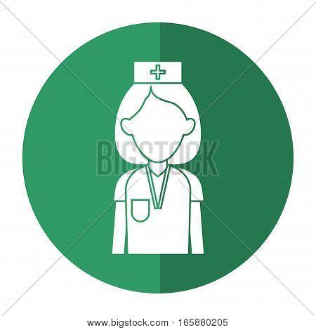 professional nurse hat uniform medical shadow vector illustration eps 10