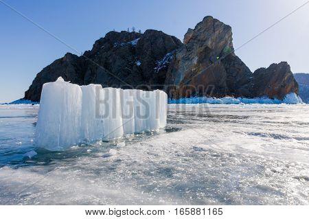 Ice Blocks In Cape Khoboy, Olkhon Island, Lake Baikal