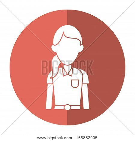 woman paramedic worker hospital emergency with shadow vector illustration eps 10