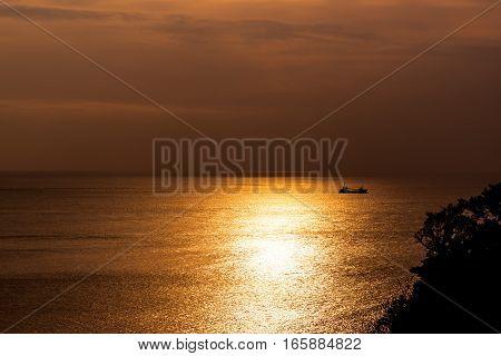 Summer sunset of Izu , Shizuoka ,Japan.