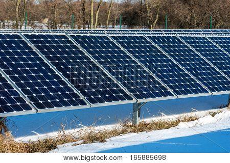 Solar Panel, Photovoltaic, Alternative Electricity Source - Selective Focus, Copy Space