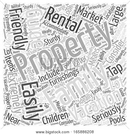 Guide to Vacation Rental Properties Word Cloud Concept