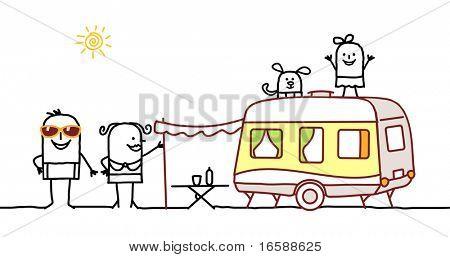 summer family & camping car