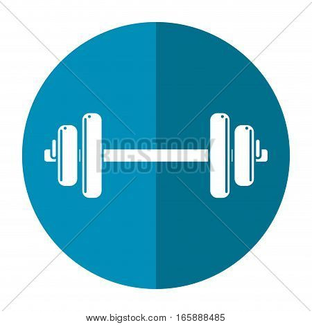 weight barbell trainer player football shadow vector illustration