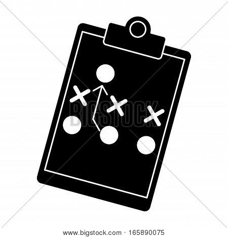 silhouette board tactical diagram american football vector illustration eps 10