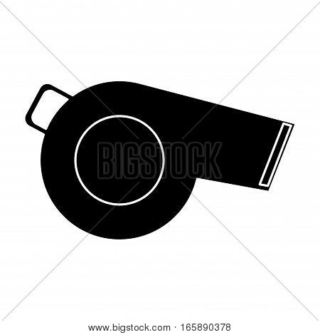silhouette referee whistle american football icon vector illustration eps 10