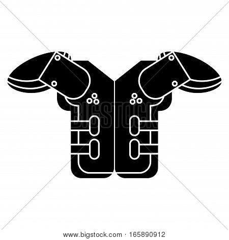 silhouette shoulder pad american football equipment protection vector illustration eps 10