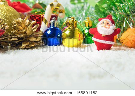 Christmas decorations background There is space to write
