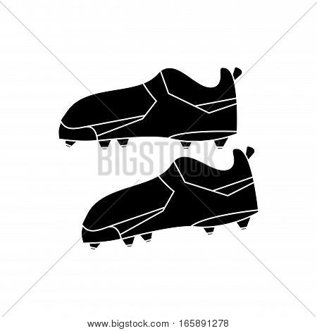 silhouette american football boot shoes spiked vector illustration eps 10