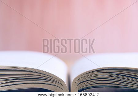 Opened Book On Table