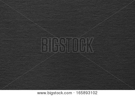background and texture of black color of corrugated fabric of jersey of big resolution