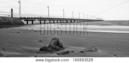 Black And White Image Of Shorncliffe Pier