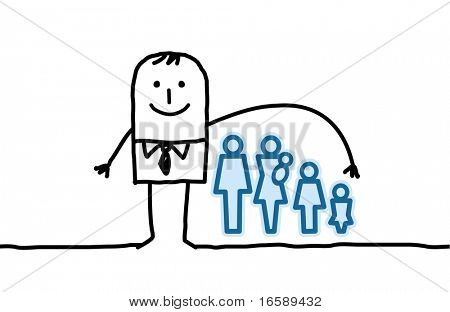 man & life insurance