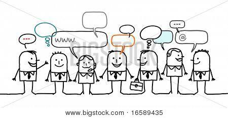 mensen uit het bedrijfsleven & sociaal netwerk