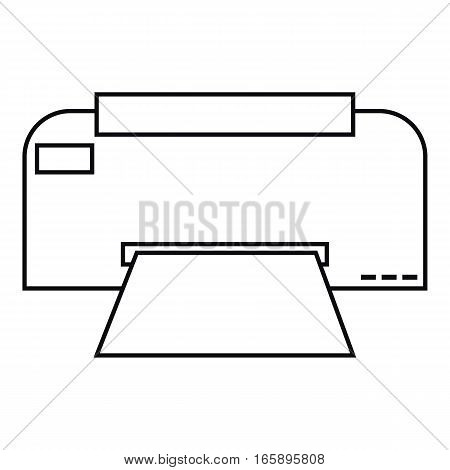 Fax icon. Outline illustration of fax vector icon for web