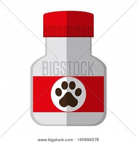dog supplement icon over white background. pet shop concept. colorful design. vector illustration