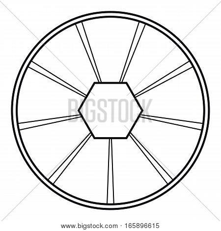 Round diagram icon. Outline illustration of round diagram vector icon for web