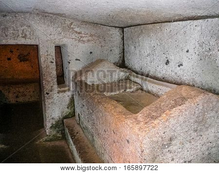 Hdr Etruscan Necropolis Of The Banditaccia In Cerveteri