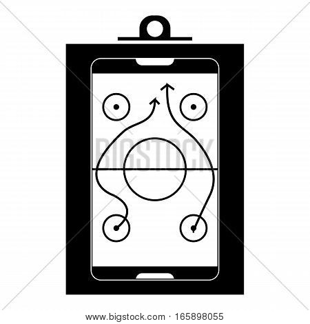 Game plan icon. Simple illustration of game plan vector icon for web