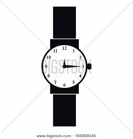 Wristwatch icon. Simple illustration of wristwatch vector icon for web